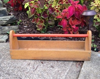Vintage Handmade Primitive tool/supply caddy