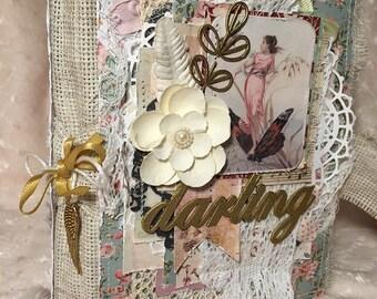 Cute mini-album on the fabric based