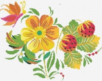 Summer Colour Cross Stitch Chart