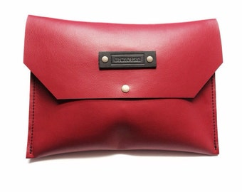 "leather Clutch ""Brest"""