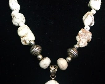 River Stone Necklace Set