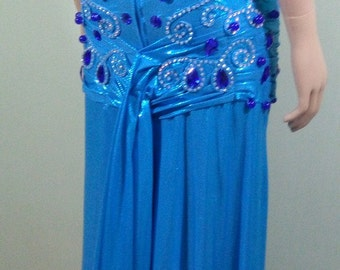 made to order turquoise costume