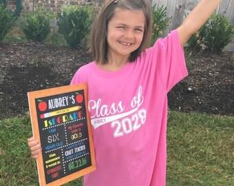 First Day of School shirt | Kindergarten shirt | Graduation shirt | Grow with me shirt | Class of 2029 Shirt | Class of 2030 shirt
