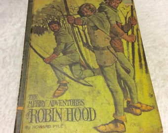Merry Adventures of Robin Hood Howard Pyle 1968 Educator Classic Library.