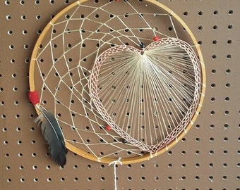 Pink , Red and Black Heart Dream Catcher