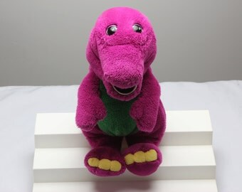 "Barney Plush Stuffed Animal 1992 15"" The Lyons Group/The Golden Bear Co."