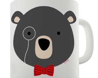 Monocle Bear Ceramic Novelty Gift Mug