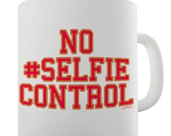 No Selfie Control Ceramic Mug