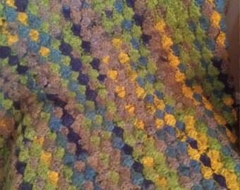 "Crochet Lapghan - 47.5"" x 35"" Seashell"