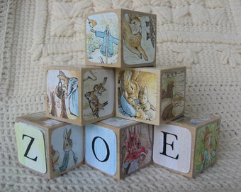 Personalized with your Child's Name - Beatrix Potter's World of Peter Rabbit Blocks