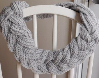 5 Strand Braided Crochet Scarf