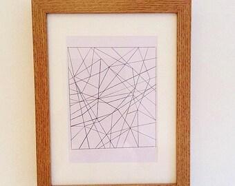 Geometric square art