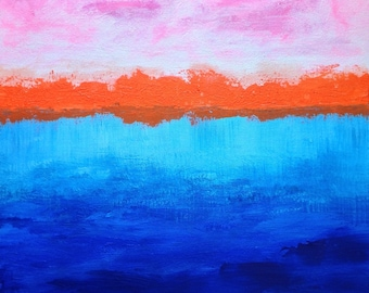 """ABSTRACT LANDSCAPE, #1 (16 x 16 x 1.5"""")"""