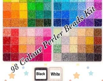 98 colors Perler Beads 2.6mm Kit