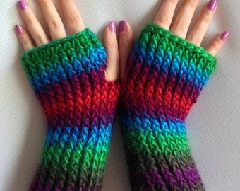 Handmade fingerless gloves/handwarmers/texting gloves