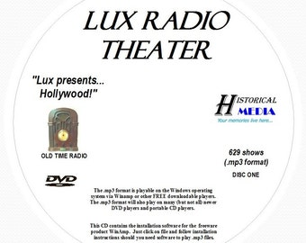 Lux Radio Theater - 629 Shows of Old Time Radio MP3 Format OTR 2 DVDs