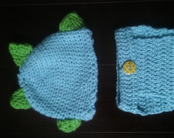 dino diaper cover with hat