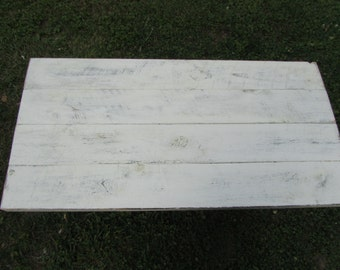 Distressed reclaimed wood coffee table, shabby chic pipe table industrial coffee table