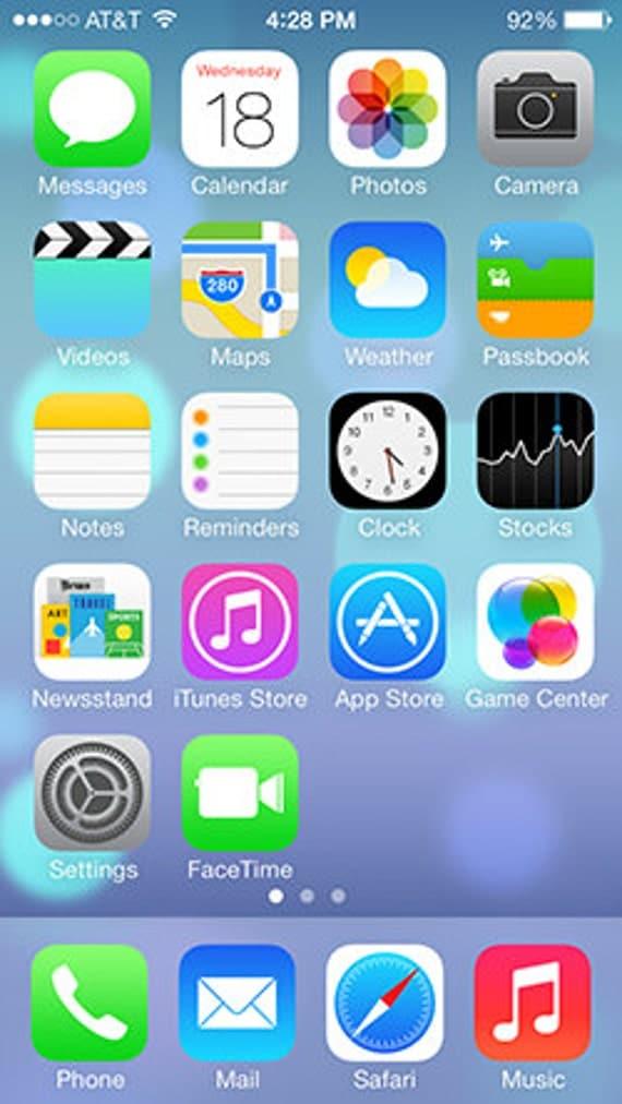 iPhone 5 Screen Edible Image/Cake Topper