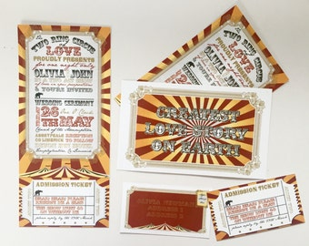 Fun circus wedding invitation