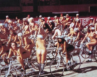 Women Bicycle Riders Saturday Morning Race Picture Print Poster 16x20