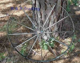2 - 24 inch Steel, (metal), Wagon Wheels