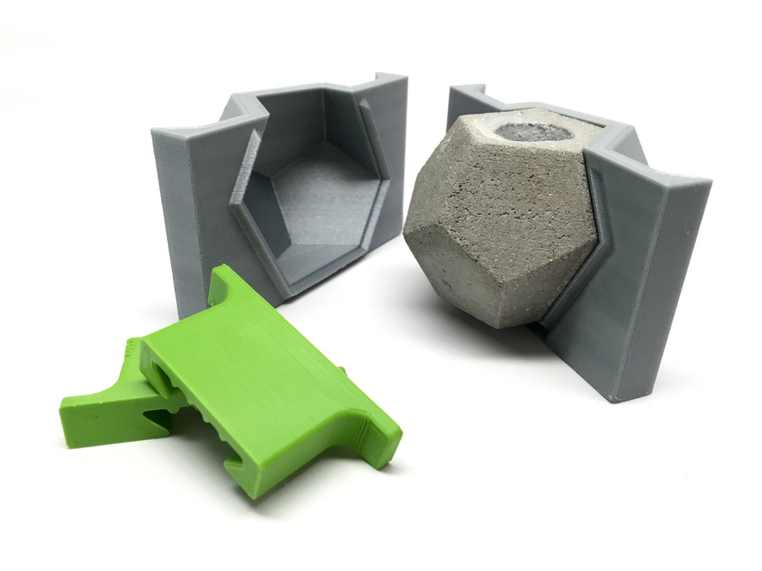 Dodecahedron mold 3d printed geometric mold cast for Concrete craft molds