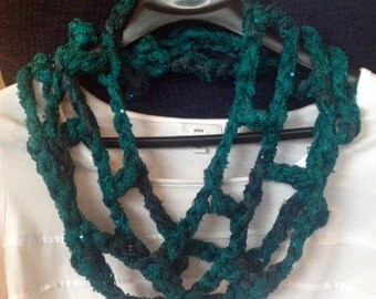 Crocheted Infinity Necklace Scarf