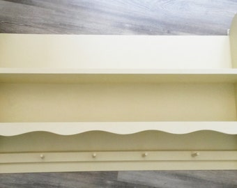 Large kitchen shelf plate rack country-style cream