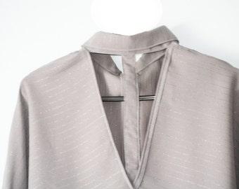V back Poncho Shirt