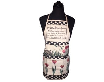 Hand Painted Tulip Apron