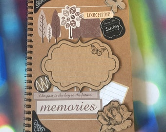 Embellished journal A5 size with journal cards