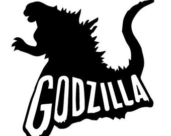 GODZILLA- Vinyl Decal - Multiple colors and sizes to choose from!!!