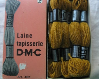 Vintage tapestry/needlepoint/crewel yarn. 100% wool. Mustard. #9911