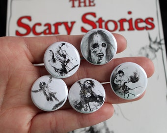 Scary Stories to Tell in the Dark - Pack of 5 one inch pins