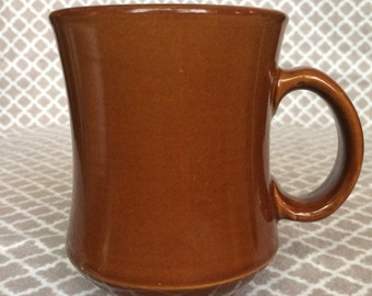 Vintage Recovbrown glazed mug - made in china - c688-07 P