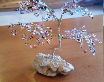 Tree of life in wire and beads