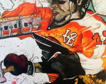 "Custom Philadelphia Flyers  ""Wayne Train"" Print"