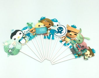 Octonauts cupcake toppers (12)