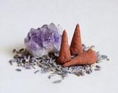 Sandalwood, Lavender, Frankincense Incense Cones