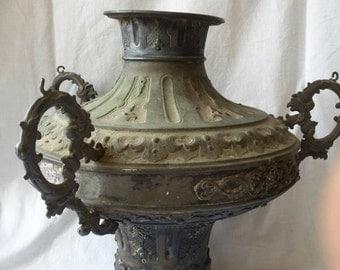 18th venice silver oil lamp