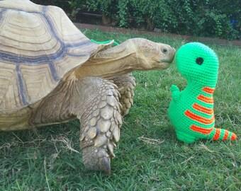 Crochet Tiny T-Rex, crochet dinosaur
