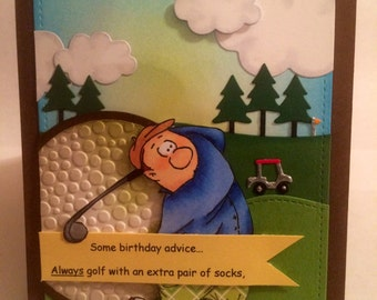 Handmade Humorous birthday card