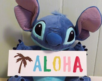Aloha Sign, Rainbow Aloha Sign, Palm Tree Aloha Sign, Hand Painted Aloha Sign