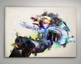 League of Legends Ezreal, League of Legends Poster, League of Legends Watercolor, League of Legends Wall Decor