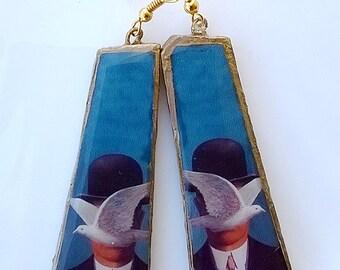 Terracotta Magritte earrings 1
