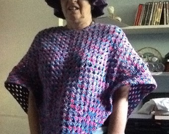 Homemade poncho with hat