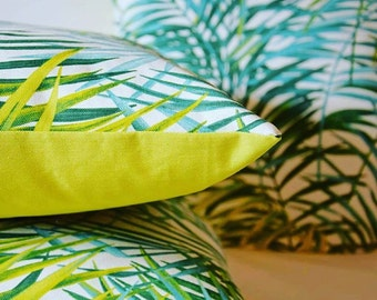 [Palm tree Tropical Plant] cushion 40 x 40 cm or 50 x 30 cm vegetable / Jungle / exotic / Pal