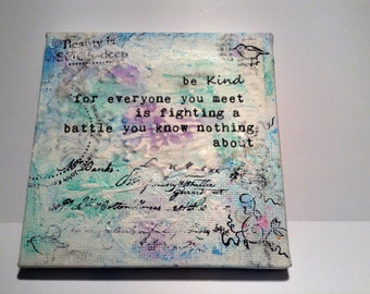 Be Kind Canvas