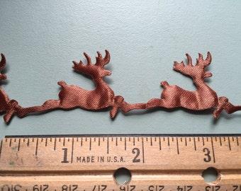 1 Yard Xmas Christmas Reindeer Trim, Scrapbooking, Card Making, Gift Wrap, Stockings, Christmas Cards